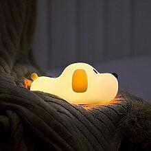 LanLan Niedlichen Cartoon Hund Form Patting Lampe USB gebührenpflichtiges Nachtlicht Home Office Dekoration