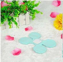 Lanlan Party Hochzeit Dekoration für hängende Papier Blume Girlande wiederverwendbar Girlanden 100Kleeblattes Gewebe, blau