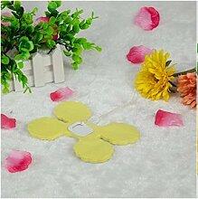 Lanlan Party Hochzeit Dekoration für hängende Papier Blume Girlande wiederverwendbar Girlanden 100Kleeblattes Gewebe, gelb