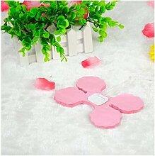 Lanlan Party Hochzeit Dekoration für hängende Papier Blume Girlande wiederverwendbar Girlanden 100Kleeblattes Gewebe, rosa