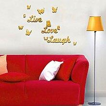 LanLan Spiegel Aufkleber Delicate Live Love Laugh