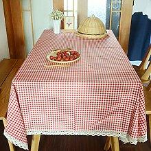 LanLan Tischdecken Tischdecke Plaid Red Tischdecke