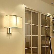 LanLan Wandlampe E27 3W einfache quadratische LED Wandleuchte Nachtlampe Dekoration