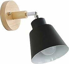 LANMOU Moderne Wandleuchte Holz Wandlampe 1