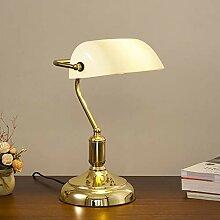 LANMOU Retro Tischlampe Traditionelle Bankerlampe,