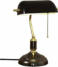 LANMOU Retro Tischlampe, Traditionelle Bankerlampe