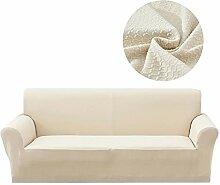 Lanqinglv Beige Elastisch Jacquard Sofaüberwurf