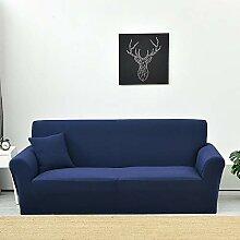 Lanqinglv Blau Elastisch Jacquard Sofaüberwurf