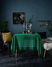 Lanqinglv Dunkelgrün Spitze Tischdecke 180x180cm