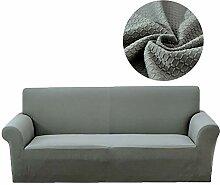 Lanqinglv Grau Elastisch Jacquard Sofaüberwurf