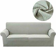 Lanqinglv Grün Elastisch Jacquard Sofaüberwurf