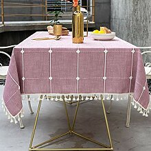 Lanqinglv Quaste Tischdecke Weihnachten 90x90 Rosa