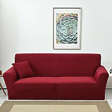 Lanqinglv Rot Elastisch Jacquard Sofaüberwurf