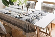 Lanqinglv Streifen Tischdecke 90x90cm Abwaschbar