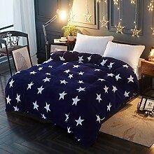 Lanqinglv Warm Winter Stern Bettwäsche Blau