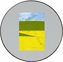 Lanscape with field, grass and sky in southern Bohemia. Czech Republic metal round fridge magne