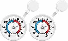 Lantelme 2 Stück Fenster Thermometer