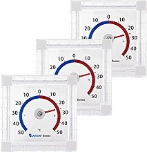 Lantelme 3 Stück Fensterthermometer Set