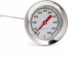 Lantelme 500 °C Thermometer 50 cm Sonde Edelstahl