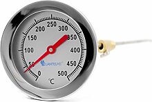 Lantelme Edelstahl 500 °C Grad Thermometer