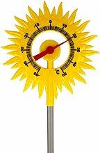 Lantelme Gartenthermometer Sonne mit Metall