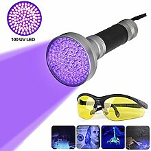 LanXi® 100 LEDs UV Schwarzlicht Taschenlampe mit