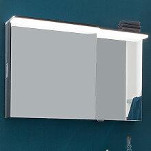 Lanzet EKKO Spiegelschrank - 100 cm, Variante Links - mit 1 LED-Paneel, 1 Tür beidseitig verspiegelt- B: 1000 H: 625 T: 136/83.5