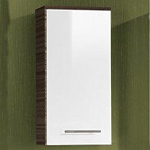 Lanzet Ergänzungsschrank Oberschrank mit 1 Tür und 1 Glaseinlegeboden, Variante links- B: 300 H: 616 T: 200