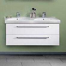 Lanzet K3 Waschtischunterschrank - 118 cm, mit 2 Auszügen - für 520 mm tiefen Waschtisch- B: 1180 H: 480 T: 435