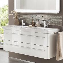 Lanzet K8 Waschtischunterschrank - mit 2 Auszügen für Doppelwaschtisch- B: 1160 H: 490 T: 420