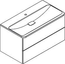 Lanzet M9 Waschtisch mit Unterschrank mit 2 Auszügen und Mineralguss Waschtisch- B: 975 H: 520 T: 540