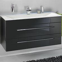 Lanzet P5 Waschtischunterschrank - 118 cm, mit 1 Blende und 2 Auszügen - für 550 mm tiefen Waschtisch- B: 1180 H: 600 T: 525