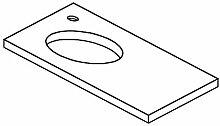 Lanzet Q4 Ausschnitt Waschtischplatte