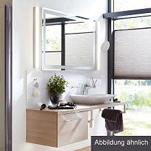 Lanzet Q4 FIT Badmöbel Set - 150 cm, Spiegel, Aufsatz-Waschtisch, Waschtischunterschrank mit 1 Auszug- B: 1500 H: 2000 T: 485