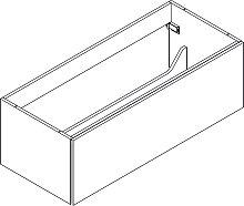 Lanzet Q4 FIT Waschtischunterschrank - 117 cm, mit 1 Auszug- B: 1179 H: 390 T: 485