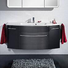 Lanzet S 2.1 Waschtischunterschrank - 119 cm, mit 1 Blende, 1 Auszug, 1 Unterschrank rechts und links- B: 1195 H: 630 T: 440