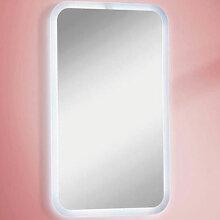 Lanzet Spiegel Flächenspiegel - 45 cm, mit indirekter LED-Beleuchtung- B: 450 H: 730 T: 30
