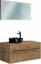 Lanzet Woodblock Badmöbel Set 101 cm