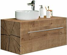 Lanzet Woodblock Waschtisch mit Unterschrank 100 cm