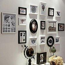 laoga Fotorahmen Weiß 16 Stück Bilderrahmen Aus