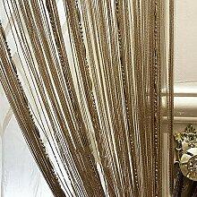 LAPOPNUT Vorhänge Fadenvorhang 100x200cm