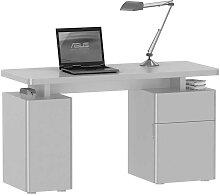 Laptop Schreibtisch in Weiß Hochglanz 140 cm breit