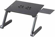 Laptop Tisch Aluminium Bett Computer Tisch Im Freien Grill Picknick Klapptisch Im Freien Grill Picknick Geschenk,Black-OneSize