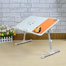 Laptop-Tisch mit Fan-Kühlung kann angehoben werden Multifunktions-Falten einfacher Schreibtisch , orange