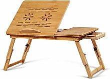 Laptoptisch Beistelltisch Notebooktisch Bambus