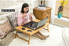 Laptoptisch Relaxdays Bambus-Bettablage, Faltbar,