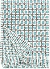 Lapuan Kankurit Corona Wolldecke 130x170 cm - grau türkis