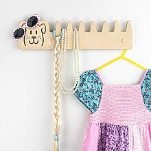 LARAWELL Kindergarderobe mit Kleiderhaken für