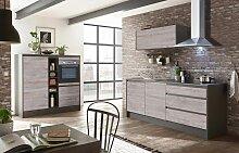 Larne Küchenzeile Anthrazit / Ribbeck Eiche