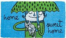 Laroom 11887Fußmatte Home Sweet Home, blau